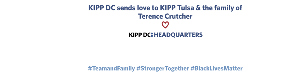 Letter to Crutcher Family from KIPP DC