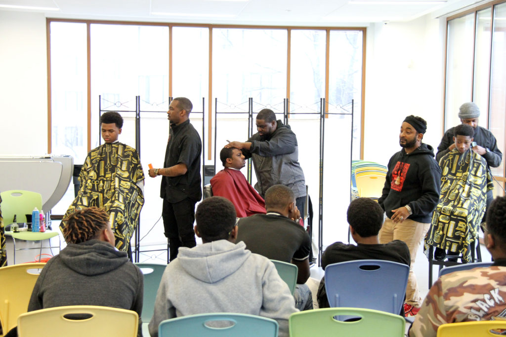 KIPP DC Young Men's Empowerment Summit - haircuts