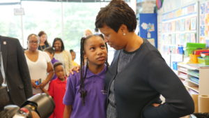 Mayor Bowser at Promise with student