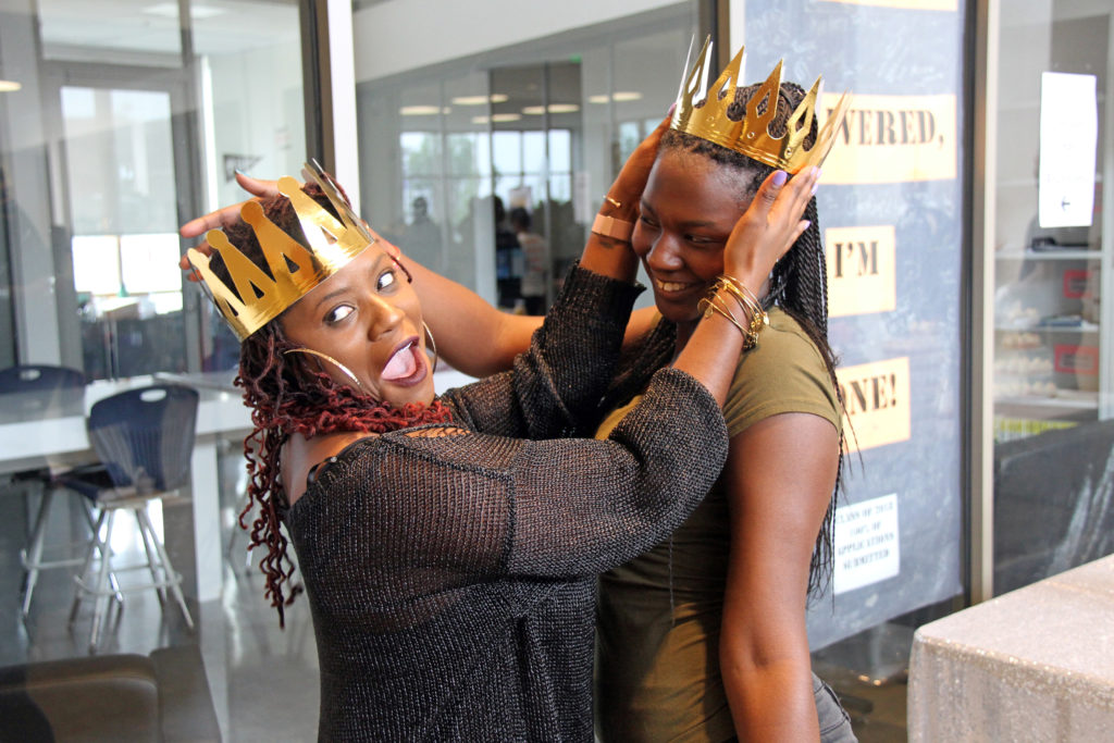 KIPP DC G.E.M.S. Summit - posing with crowns