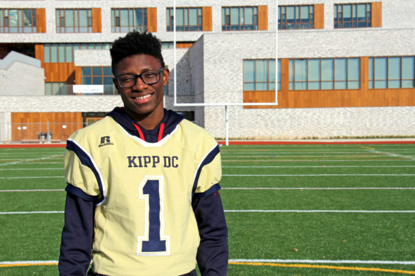 KCP Student in Football Uniform