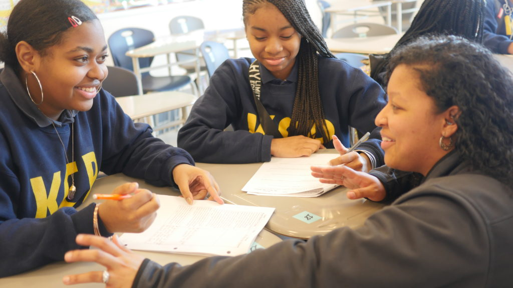 Xenia Perry with KIPPsters